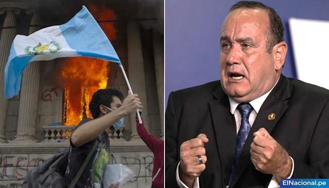 Giammattei pide ayuda a la OEA