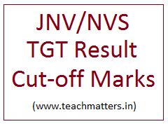 image : NVS TGT Result & Cut-off Marks @ TeachMatters