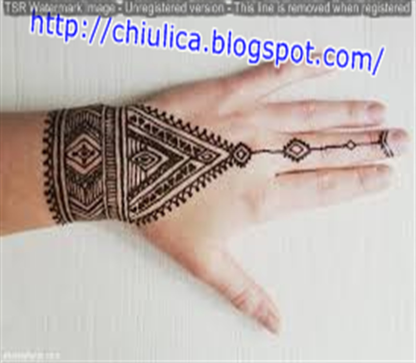 Henna Gelang Tangan Simple Dan Mudah Terbaru 2017 Contoh Henna