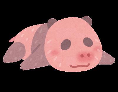 パンダの赤ちゃんのイラスト