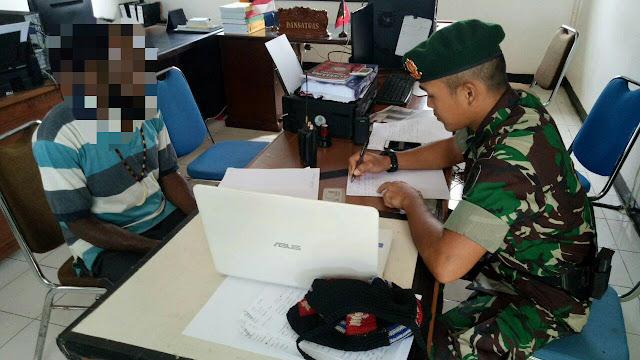 6 Simpatisan KSB Organisasi Terlarang Papua Ditangkap Satgas Pamtas Yonif PR 328 Kostrad