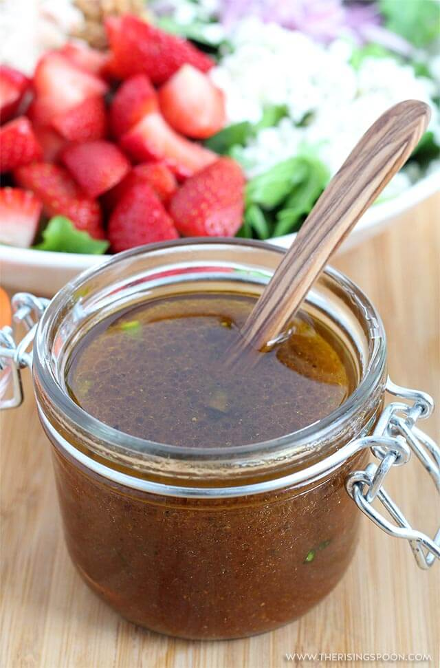 Top 10 Most Popular Recipes On The Rising Spoon in 2019: Maple Balsamic Vinaigrette Dressing