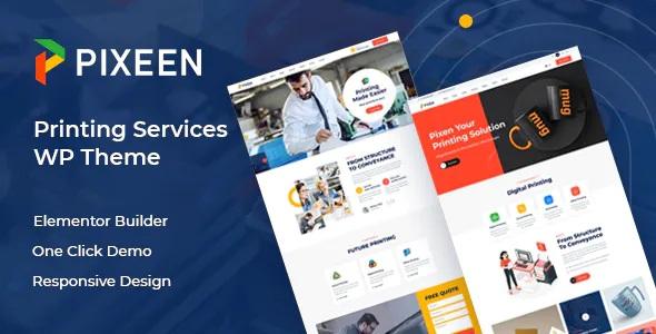 Best Printing Services Company WordPress Theme
