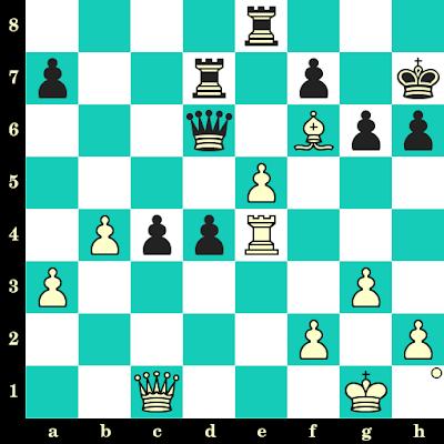 Les Blancs jouent et matent en 2 coups - Dragoljub Velimirovic vs Dragoljub Ciric, Belgrade, 1963