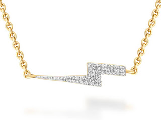 Missoma Lightning Diamond Necklace Jewellery Blog This Missoma Lightning Bolt Necklace is a made on 18 carat gold vermeil and the gold lightning bolt is covered in pave diamonds. Elegant and edgy and perfect for a on duty style.