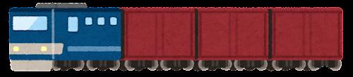 貨物列車のイラスト