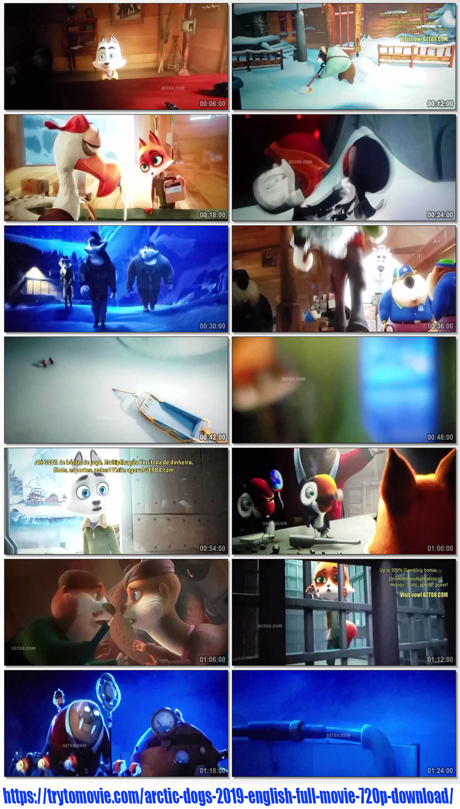 Arctic Dogs 2019 English Full Movie 720p Download