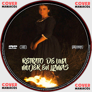GALLETA LABEL RETRATO DE UNA MUJER EN LLAMAS 2019 [COVER DVD]