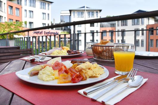 Frühstück im Hotel Esplanade in Bad Saarow