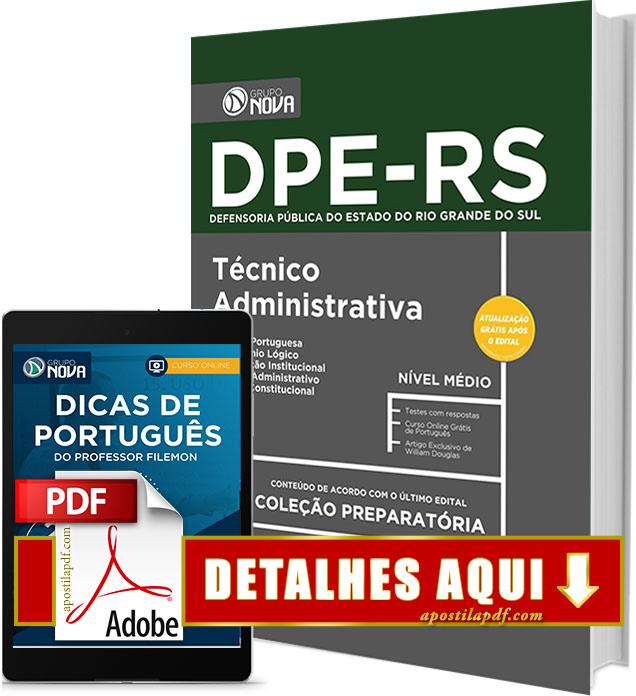 Apostila DPE RS 2017 Técnico Área Administrativa Impressa
