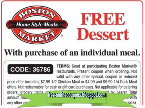 photograph relating to Boston Market Printable Coupons known as Boston industry coupon printable 2018 - Present-day Discount coupons