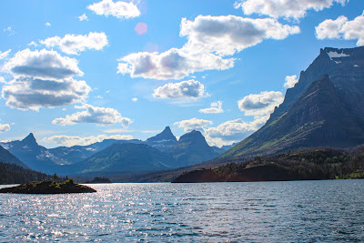 View from St. Mary Lake Boat Tour