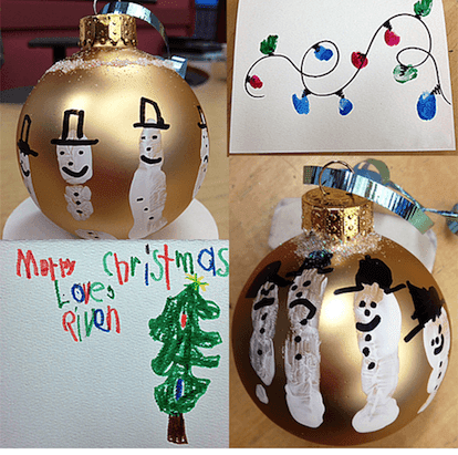 Snowmen ornaments for kids to make for Christmas gifts