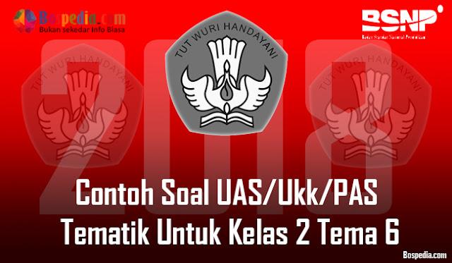 Lengkap - Contoh Soal UAS/Ukk/PAS Tematik Untuk Kelas 2 Tema 6