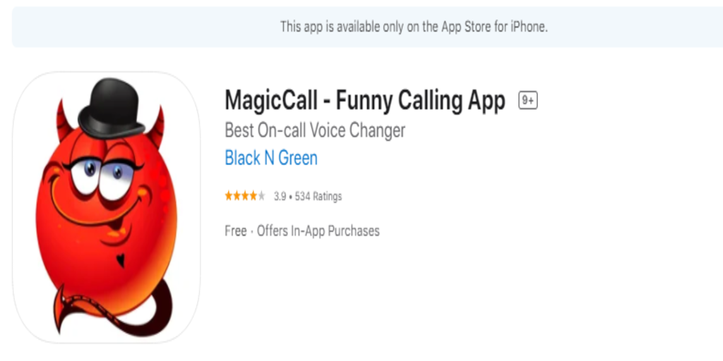 magic call real time voice changer app