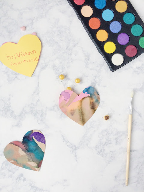 DIY Watercolor Abstract Valentine's Day Favors | Shauna Younge