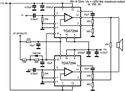 TDA7294 150 W Power Amplifier