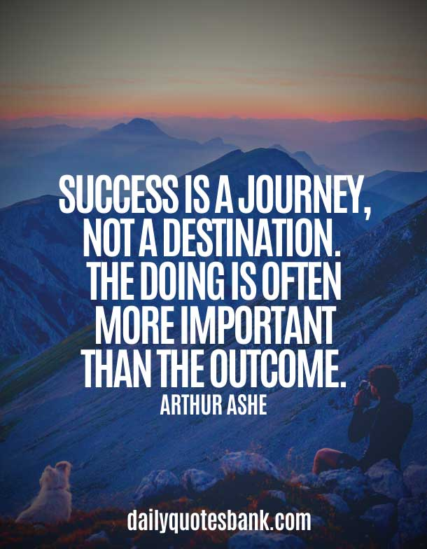 Quotes On Journey to success
