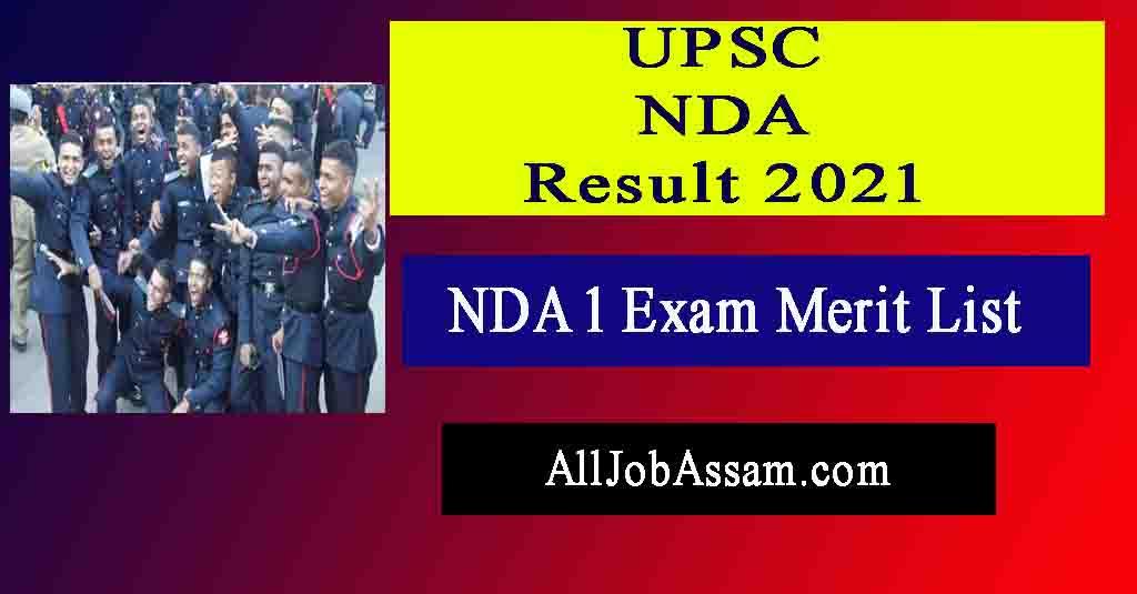 UPSC NDA 1 Result 2021