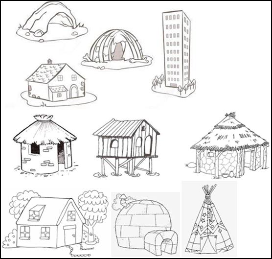 Dibujos Animados De Ladrillo Casa De Ladrillo Cabaña