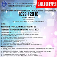 Call for Paper ICSSH 2018