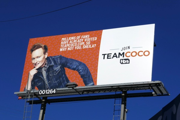 Team Coco Shiela billboard