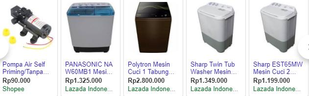 Harga Mesin Cuci Terbaru 2019