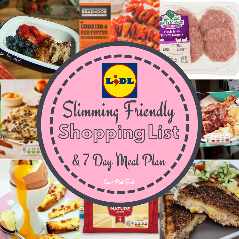 Lidl 7 Day Slimming Friendly Meal Plan Shopping List