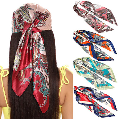 Cheap Satin Head Scarves for Women
