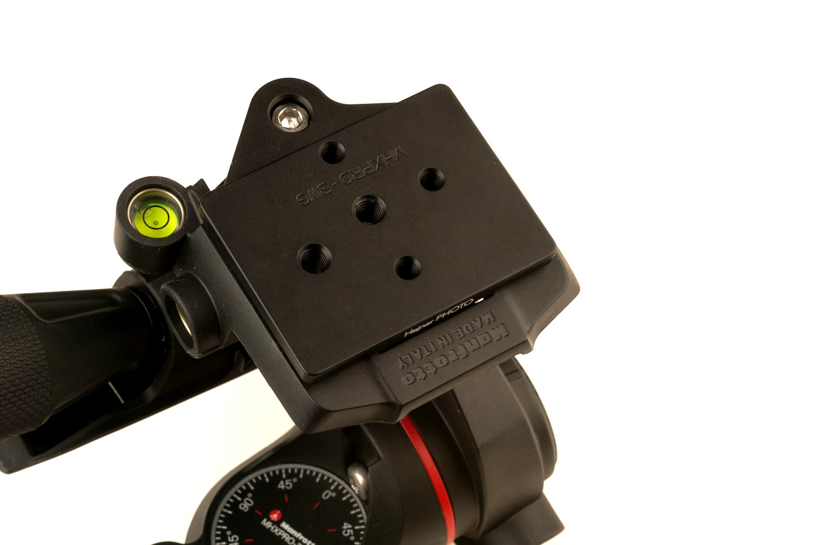 Hejnar Photo Conversion Plate installed on Manfrotto MHXPRO-3WG