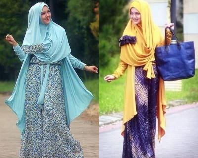 Busana muslim trendy terkini di tahun 2015