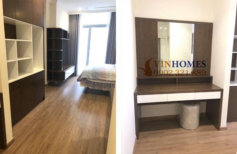 Cho thuê căn hộ Vinhomes 4 phòng ngủ Landmark 1 - tủ và bàn trang điểm