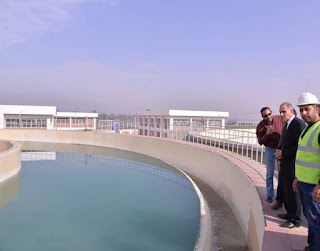 """بدء ضخ المياه لشبكات محطة مياه المرشحة """"شلش"""" بديروط"""