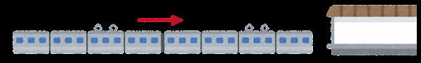電車の切り離しのイラスト2