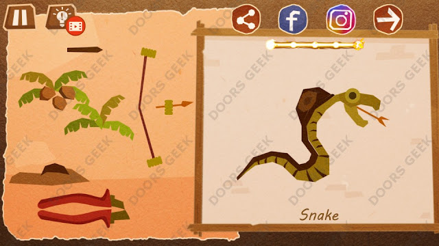 Chigiri: Paper Puzzle Master Level 3 (Snake) Solution, Walkthrough, Cheats