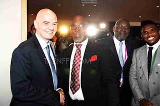 FIFA President Congratulates Pinnick On NFF Re-election