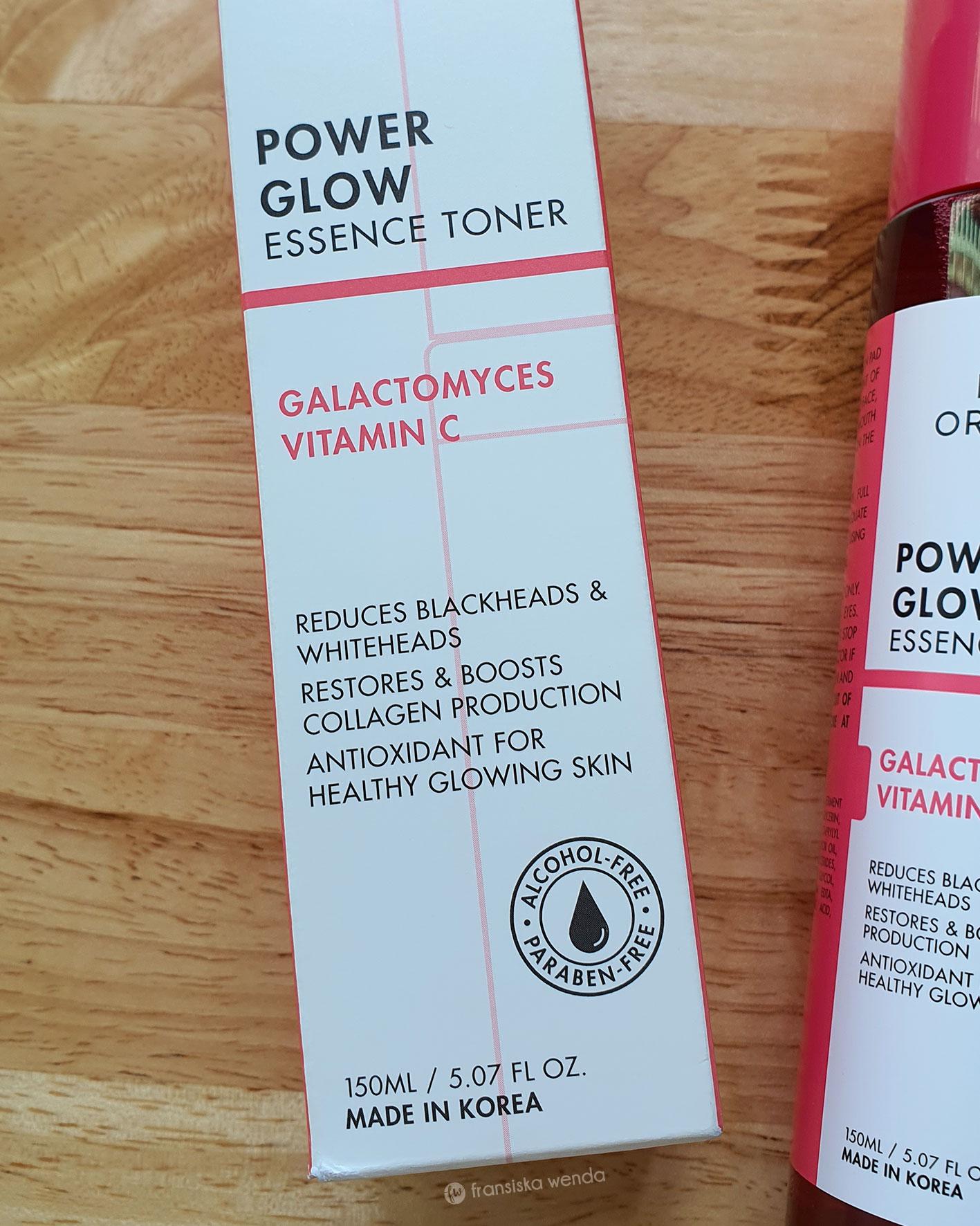 Get glowing skin with Luxe Organix Power Glow Essence Toner - Review - fransiska wenda