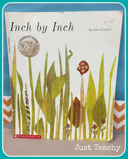Learning about length with the book, Inch By Inch