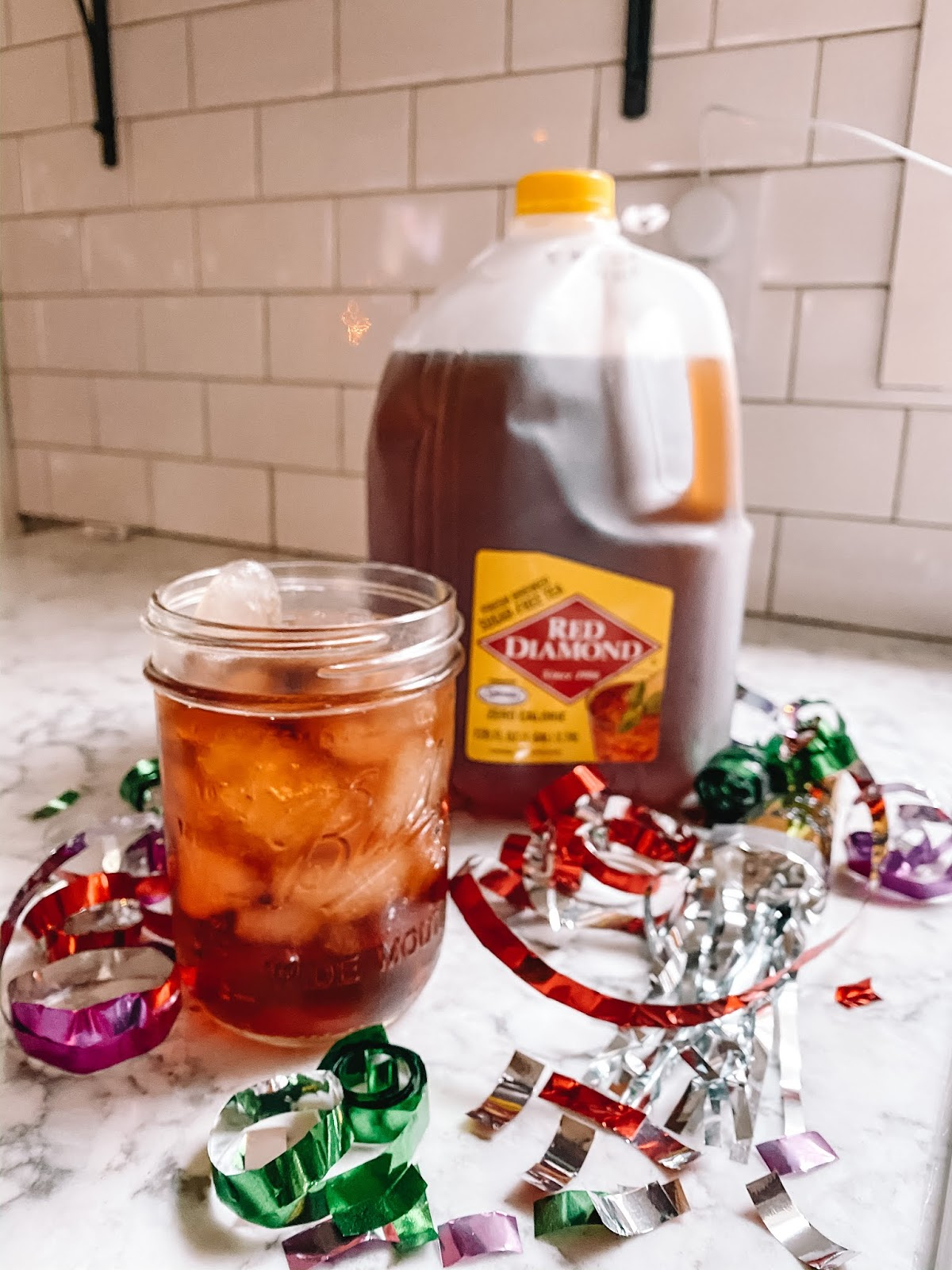 Red Diamond tea is served for NYE get togethers at Oklahoma City blogger Amanda Martin's house