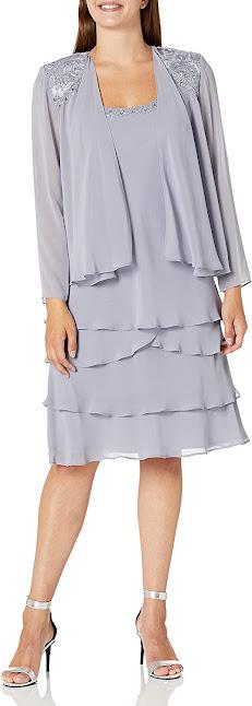Elegant Grey Mother of The Groom Dresses
