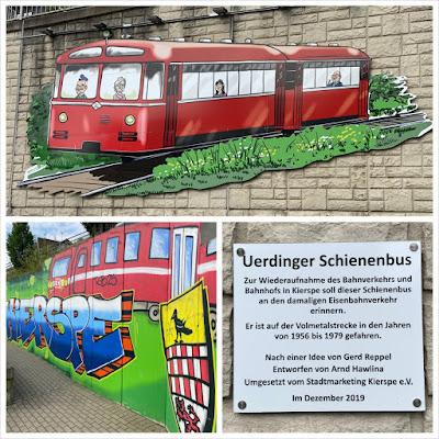 Graffiti am Bahnhof Kierspe