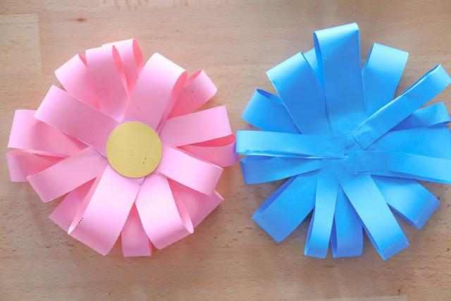 bricolage fleur en papier