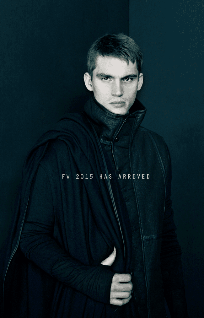 Men's Fashion from Nicholas K for F/W 2015