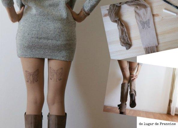 tatuaje falso, tattoo, tatuaje con pantis, manualidades, diys