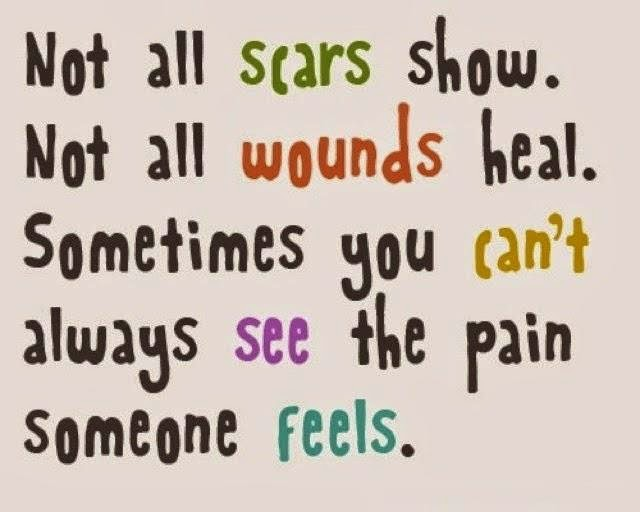 not all scars show quote