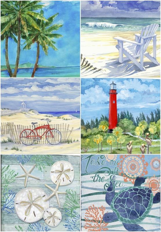 Idyllic Beach Paintings Floida Art