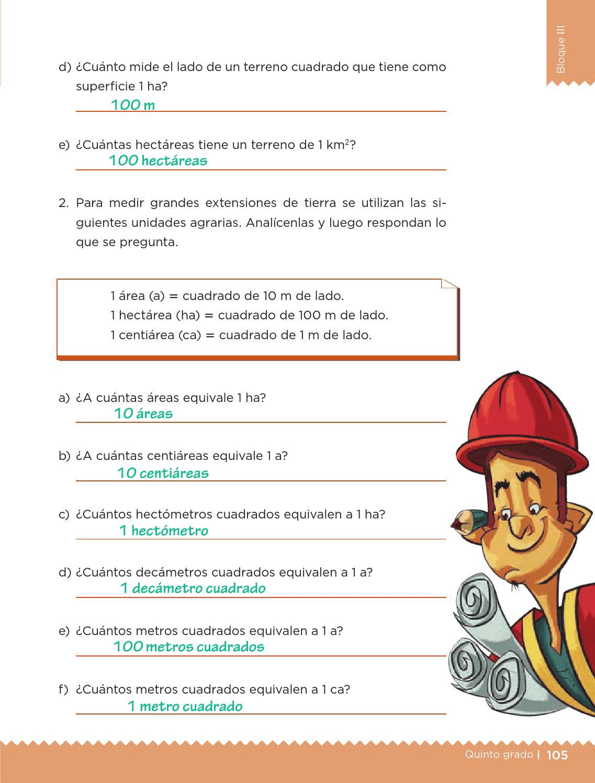 Libro De Matemticas 5 Grado Contestado 2016 Contestado