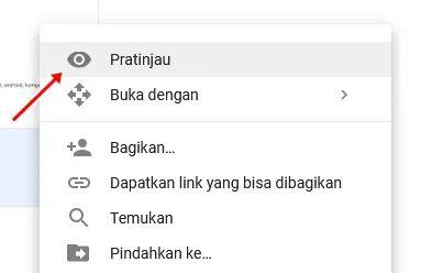 pratinjau google drive