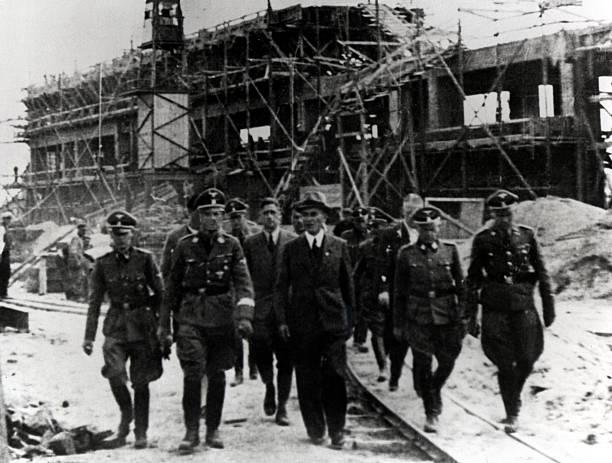 Jerarcas nazis en Auschwitz