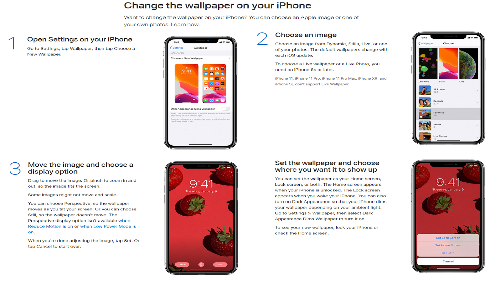 How To Change Wallpaper On Iphone 11 Pro Max Set Up Manually User Guide Manual Pdf